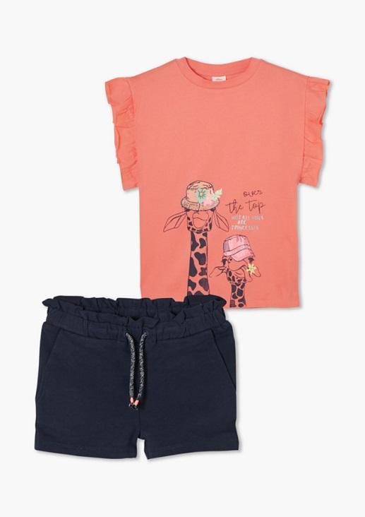 Lányt tshirt+short